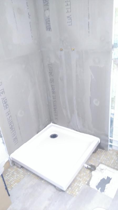 Receveur De Douche Carré L 70 X L 70 Cm Grès Blanc Asca2