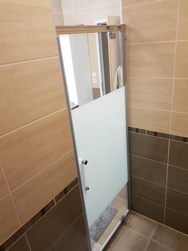 Porte de douche pivotante 80 cm s rigraphi quad leroy - La douche perigueux ...