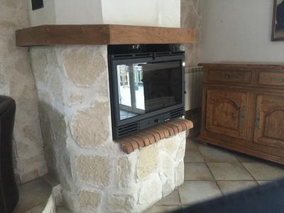 insert bois fa ade droite invicta 6682 44 12 kw leroy merlin. Black Bedroom Furniture Sets. Home Design Ideas