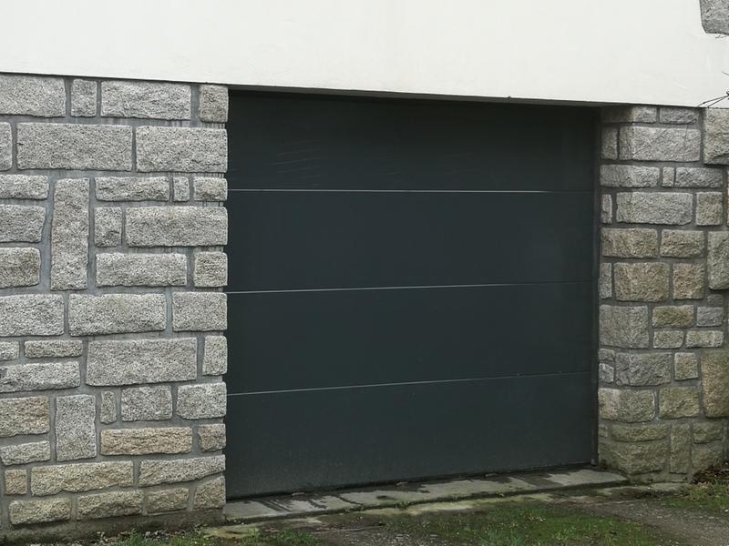 Porte de garage sectionnelle motoris e artens essentiel h - Porte sectionnelle leroy merlin ...