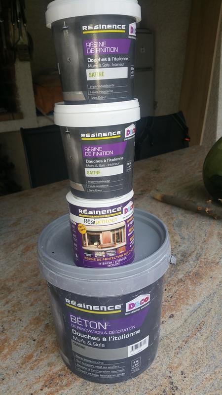Enduit b ton resinence gris ombre 4 l leroy merlin for Beton mineral resinence avis