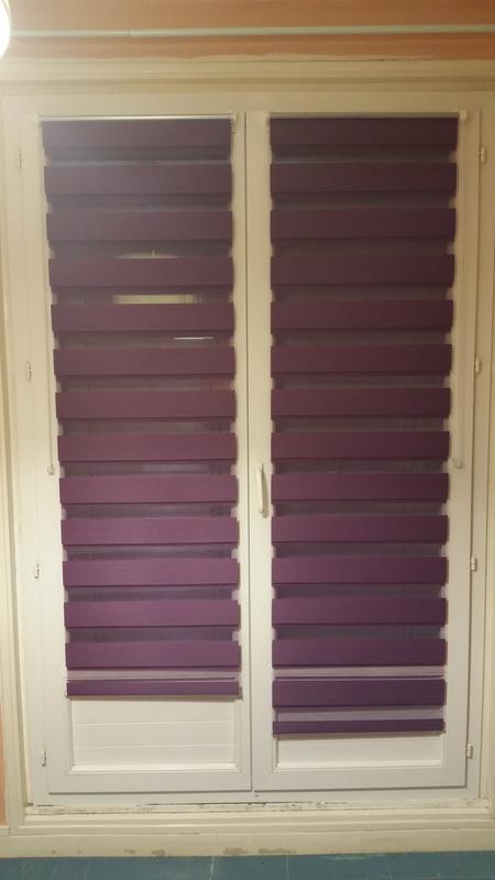 store enrouleur jour nuit inspire violet aubergine n 2 56 x 160 cm leroy merlin. Black Bedroom Furniture Sets. Home Design Ideas