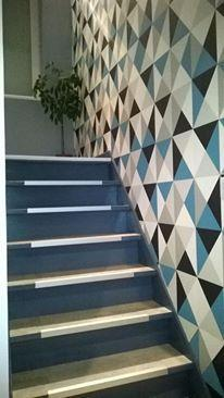 Papier peint intiss polygone bleu leroy merlin - Leroy merlin perigueux ...