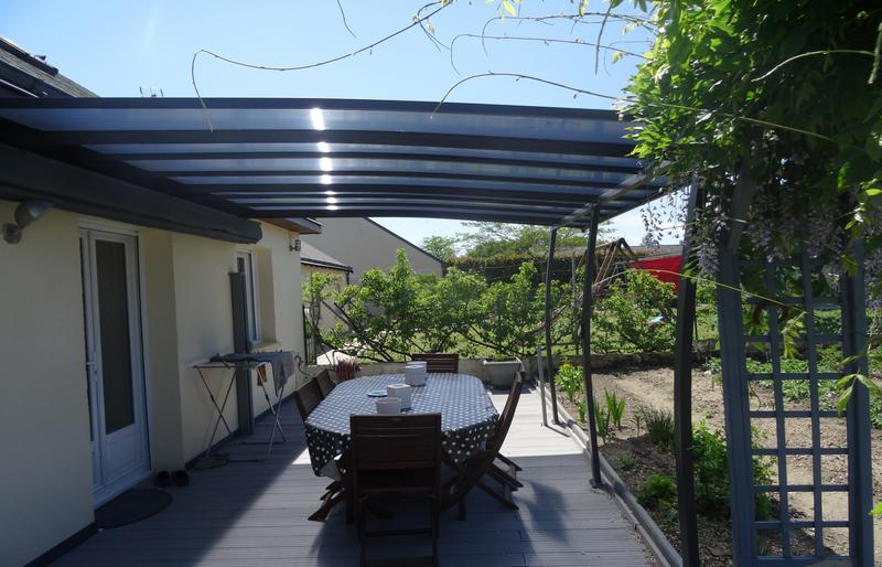 Tonnelle oslo gris anthracite 14 m² leroy merlin