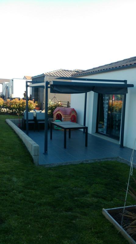 tonnelle autoportante lisboa aluminium gris 14 m leroy merlin. Black Bedroom Furniture Sets. Home Design Ideas