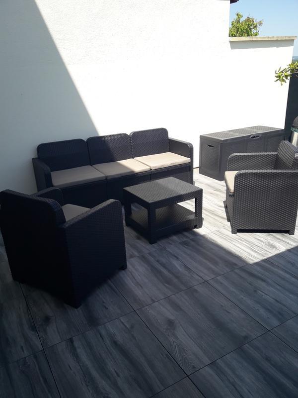 salon bas de jardin positano r sine inject e anthracite 5. Black Bedroom Furniture Sets. Home Design Ideas