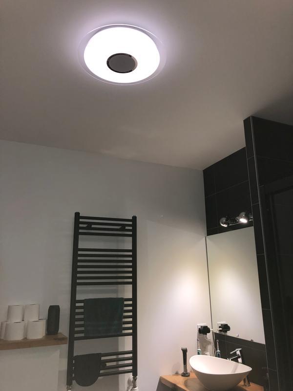 Plafonnier, design plastique led intégrée INSPIRE D.40 cm