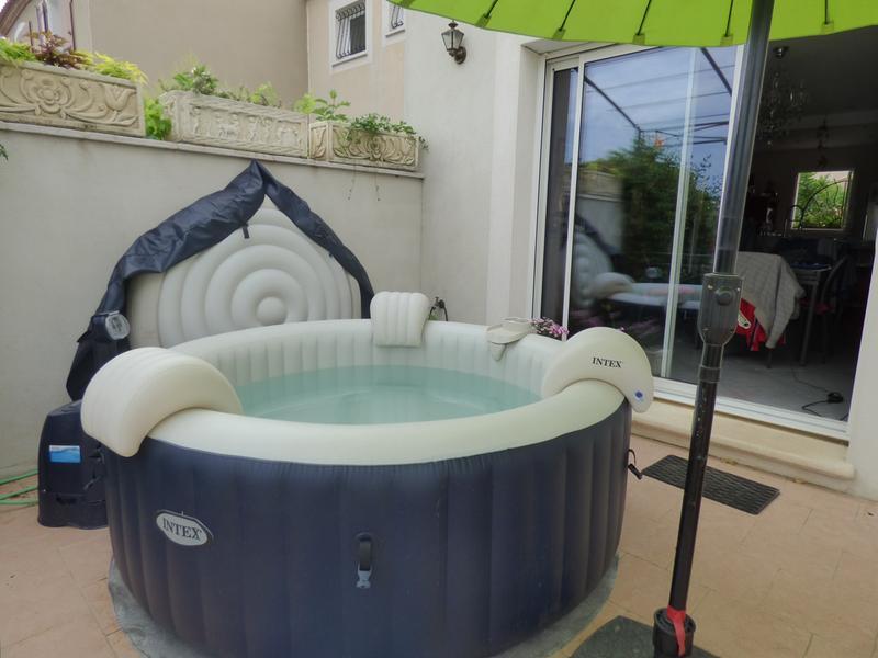 Porte verre pour spa pure spa intex leroy merlin - Spa gonflable sur terrasse ...