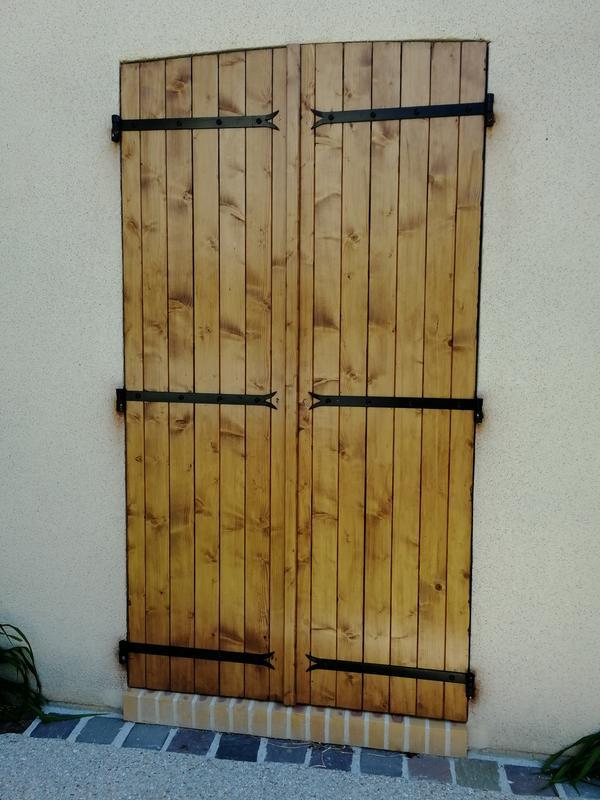 volet battant bois en kit à monter h205 x l53 cm 1