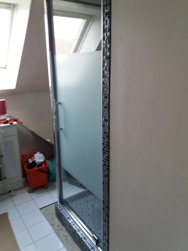 Porte de douche pivotante 90 cm s rigraphi quad leroy - La douche perigueux ...