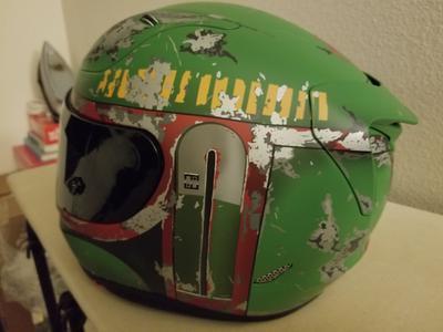 Boba Fett Helmet Kawasaki Green