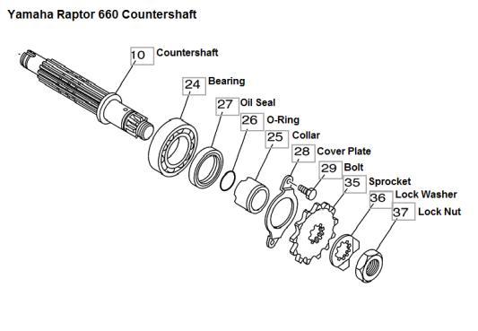 Countershaft Seal Kit For 2004 Honda TRX450R ATV~Hot Rods OSK0001