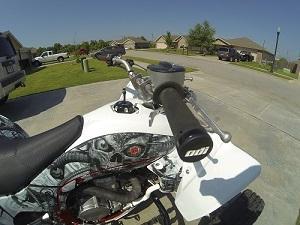 J30RFB-B Black Clamp 130mm Ruffian ATV Lock-On Grips ODI