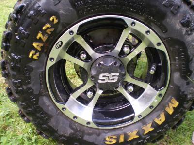 ss rims with motosport lug nut set!