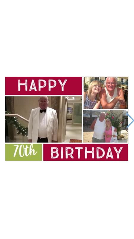 Happy 70th birthday card review photo 1 bookmarktalkfo Image collections