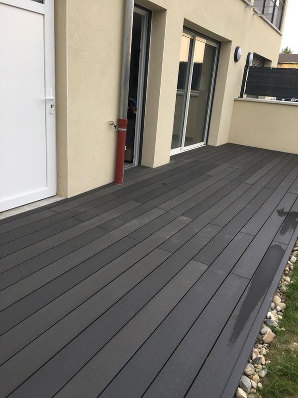Pack Complet 20 M Terrasse Lames Terrasse Composite Green Outside Coloris Anthracite Mr Bricolage