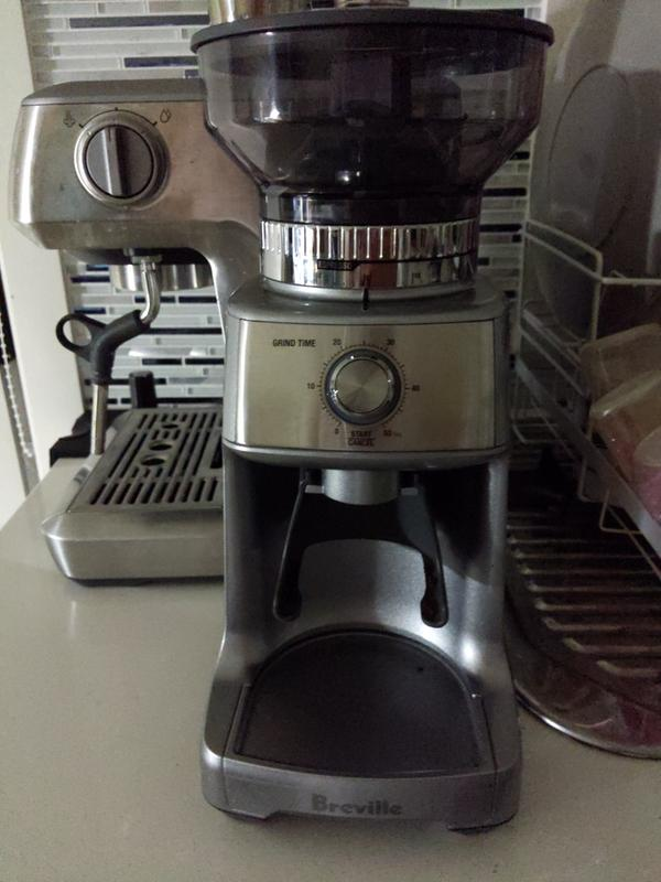 Silver Breville BCG600SIL The Dose Control Pro Coffee Bean Grinder