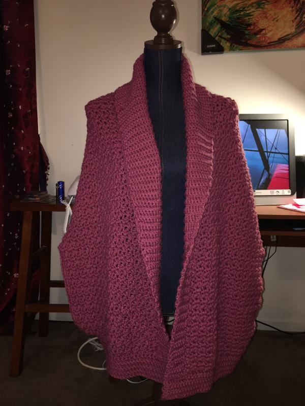 e1d3bd303 Bernat Origami Crochet Cardigan