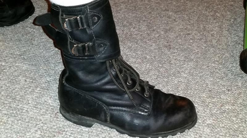 Czech Military Surplus Leather Boots, Used - 230042, Combat ...