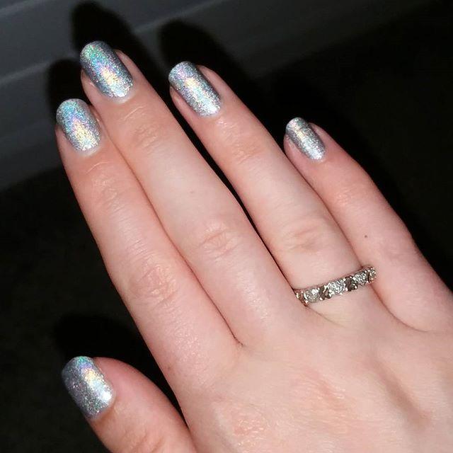 Barry M Molten Metal Glitter Nail Polish -Holographic Lights   Superdrug