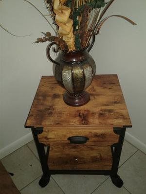 Better Homes and Gardens Rustic Country Side Table Antiqued Black