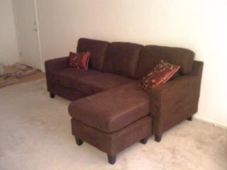 Superior Acme Vogue Microfiber Reversible Chaise Sectional Sofa, Multiple Colors    Walmart.com