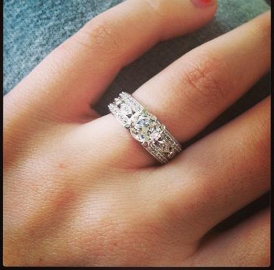 miabella 1 78 carat tgw white sapphire sterling silver filigree engagement ring walmartcom - Wedding Rings At Walmart