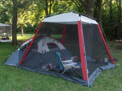 Coleman 10x10 Slant Leg Instant CanopyScreen House 100 sq ft & Coleman 10x10 instant canopy