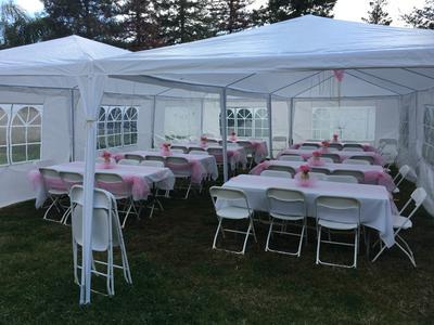 Costway 10u0027x30u0027Heavy duty Gazebo Canopy Outdoor Party Wedding Tent - Walmart.com & Costway 10u0027x30u0027Heavy duty Gazebo Canopy Outdoor Party Wedding Tent ...