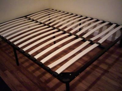 Wooden Slat Bed Frame, Black - Walmart.com