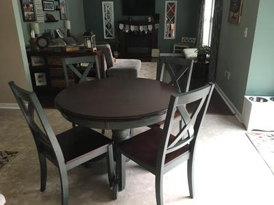 Better Homes And Gardens Cambridge Place Dining Table, Blue   Walmart.com