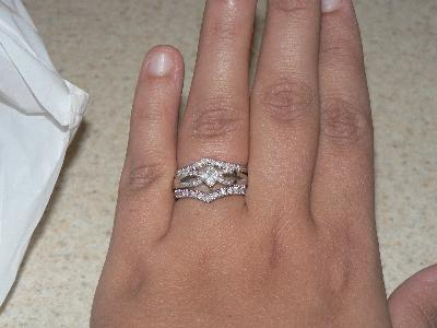16 carat tw diamond chevron ring in 10kt white gold walmartcom - Wedding Rings At Walmart