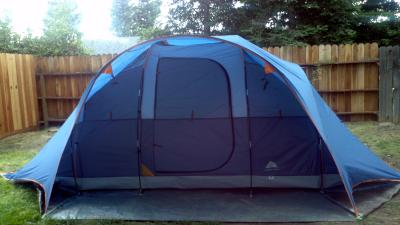 Ozark Trail 8-Person Dome Tent with Extended Porch RainFly - Walmart.com & Ozark Trail 8-Person Dome Tent with Extended Porch RainFly ...