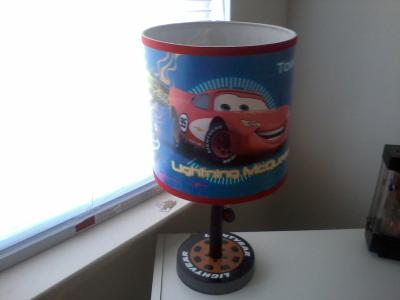 Disney cars lightning mcqueen table lamp walmart mozeypictures Image collections