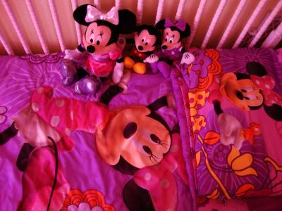 Unique Disney Minnie Mouse Fluttery Friends Piece Toddler Bedding Set Walmart