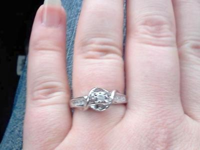 Diamond Accent Promise Ring in Sterling Silver - Walmart.com