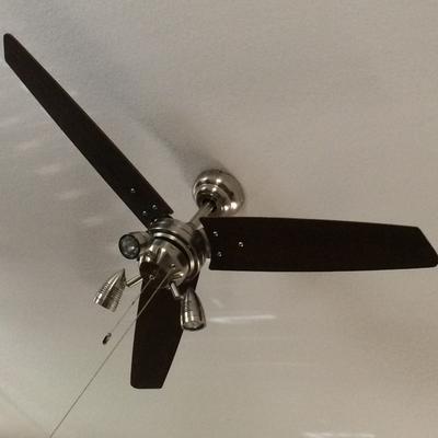 """48"""" honeywell wicker park ceiling fan, satin nickel - walmart"""
