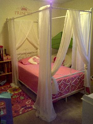& Canopy Wrought Iron Princess Bed Multiple Colors - Walmart.com