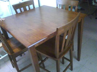 Mainstays 5 Piece Counter Height Dining Set, Warm Cherry Finish ...