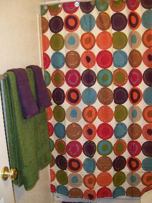 Great Dot Swirl 13 Piece Shower Curtain With Bonus Coordinating Hooks Set, Multi  Colors   Walmart.com
