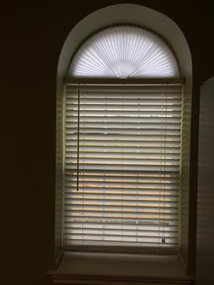 Original Arch Light Filtering Pleated Fabric Shade White 72 X 36 Walmart Com