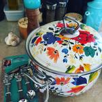 The pioneer woman 4 quart timeless floral casserole with for Pioneer woman fall collection 2017