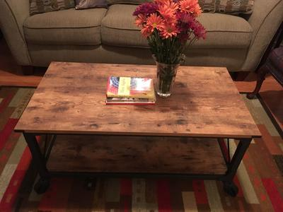 Better Homes and Gardens Rustic Country Coffee Table Antiqued