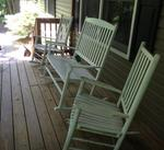 Mainstays Outdoor Double Rocking Chair, White, Seats 2 - Walmart.com