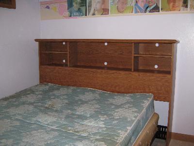 Bookshelf Headboard sauder orchard hills bookcase headboard, carolina oak - walmart