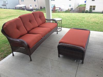 Better Homes And Gardens Azalea Ridge Outdoor Sofa Seats 3 Vermillion