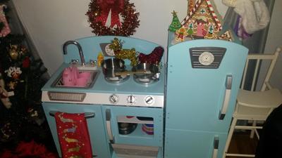 Kidkraft Retro Kitchen Blue kidkraft blue retro kitchen and refrigerator - walmart