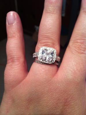 5 35 carat tgw cubic zirconia engagement ring in sterling silver walmartcom - Walmart Jewelry Wedding Rings