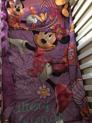Cute Disney Minnie Mouse Fluttery Friends Piece Toddler Bedding Set Walmart