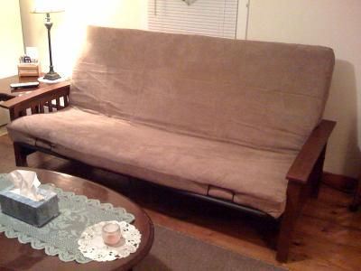 Mainstays Mission Wood Arm Futon Heirloom Cherry Better Homes And Gardens Neo Brown Com